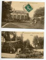 45 DOUCHY 2 Cartes Chateau De La Brulerie Jardiniers Les Serres Et Femme Liant Banc Jardin 1910 D03 2021 - Sonstige Gemeinden