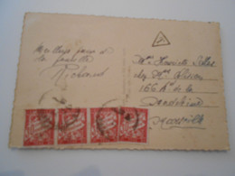 France Taxe , Carte De Marseille 1944 - 1859-1955 Lettres & Documents