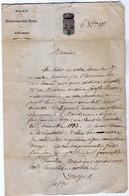 VP18.149 - 1858 - Lettre De La Mairie De MONTEREAU FAULT YONNE Pour Mr MARC à ANGLURE SUR AUBE - Collections