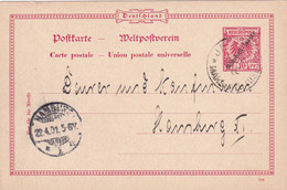 MARSHALL INSELN 1901     ENTIER POSTAL/GANZSACHE/POSTAL STATIONERY CARTE - Kolonie: Marshall-Inseln