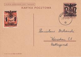 GENERAL GOUVERNEMENT 1940      ENTIER POSTAL/GANZSACHE/POSTAL STATIONERY  CARTE DE WARSCHAU - Besetzungen 1938-45