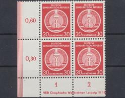 DDR Dienstmarken A, Michel Nr. 11 X XII (4), Postfrisch - Oficial