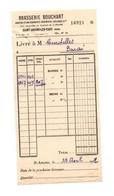 Facture Brasserie Bouchart à Saint-Amand-Les-Eaux En 1932 - Format : 18x9 Cm - Invoices