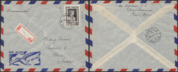 Fondation Médicale Reine Elisabeth - N°867 Seul Sur L. En Recommandé Par Avion De Halle (1951) > Bâle (Suisse) - Lettres & Documents