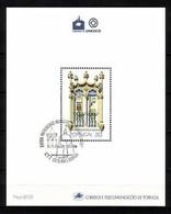 PORTUGAL BLOCK 58 GESTEMPELT(USED) UNESCO STADT ÉVORA 1988 - Blocks & Kleinbögen