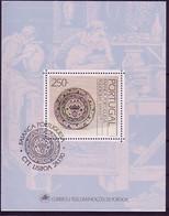 PORTUGAL BLOCK 69 GESTEMPELT(USED) FAYENCEN TELLER 1990 - Blocks & Kleinbögen