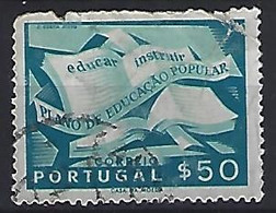Portugal  1954  Peoples Education Plan  0.50 E  (o) Mi.825 - Used Stamps