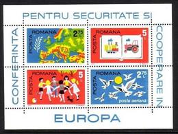 RUMÄNIEN BLOCK 124 POSTFRISCH(MINT) KSZE 1975LANKARTE EUROPA - Europese Gedachte