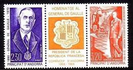 ANDORRA FRANZÖSISCH MI-NR. 418-419 POSTFRISCH(MINT) Zusammendruck CHARLES De GAULLE 1990 - Europese Gedachte