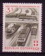 ÖSTERREICH MI-NR. 1086 POSTFRISCH(MINT) MITLÄUFER 1961 - KONFERENZ DER VERKEHRSMINISTER - Europäischer Gedanke