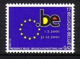 BELGIEN MI-NR. 3064 POSTFRISCH(MINT) MITLÄUFER 2001 VORSITZ In Der EU - European Ideas