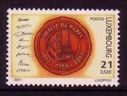 LUXEMBOURG MI-NR. 1529 POSTFRISCH(MINT) MITLÄUFER 2001 PARISER VERTRAG SIEGEL - European Ideas