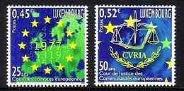 LUXEMBURG MI-NR. 1562-1563 POSTFRISCH(MINT) MITLÄUFER 2002 - EUROPÄISCHE INSTITUTIONEN - European Ideas