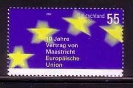 DEUTSCHLAND MI-NR. 2373 POSTFRISCH(MINT) MITLÄUFER 2003 - 10 JAHRE VERTRAG Von MAASTRICHT Und EU - European Ideas