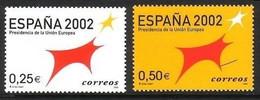 SPANIEN MI-NR. 3702-3703 POSTFRISCH MITLÄUFER 2002 - EU-VORSITZ SPANIEN - European Ideas