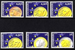 LUXEMBURG MI-NR. 1544-1549 POSTFRISCH(MINT) MITLÄUFER 2001 EURO MÜNZEN - European Ideas
