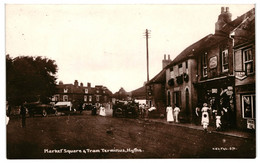 CPA Carte Postale Royaume Uni -Hythe Marquer Square Tram Terminus   VM33454 - Folkestone