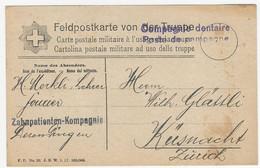 Feldpostkarte 1917 O Comagnie Dentaire / Zahnpatienten Kompagnie - Documenti