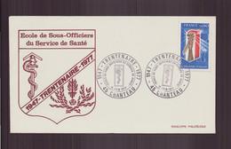 """France, Enveloppe Avec Cachet Commémoratif """" Ecole Des Sous-officiers Du Service Santé """" Du 11 Juin 1977 à Chanteau - Matasellos Conmemorativos"""