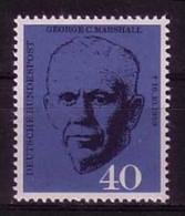 DEUTSCHLAND MI-NR. 344 POSTFRISCH(MINT) MITLÄUFER 1960 - GEORGE C. MARSHALL - Europäischer Gedanke