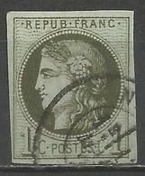 France - Cérès Emission De Bordeaux - N° 39A Olive - 1870 Ausgabe Bordeaux