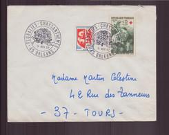 """France, Enveloppe Avec Cachet Commémoratif """" Floralies Chrysanthèmes """" Du 11 Novembre 1967 à Orléans - Matasellos Conmemorativos"""