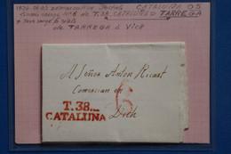 V6 ESPAGNE BELLE LETTRE LUXE  1836  CATALUNA TARREGA    POUR VICH + AFFRANCH. PLAISANT - ...-1850 Voorfilatelie