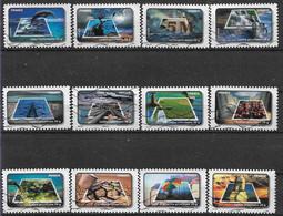 2010 FRANCE Adhésif 403-14 Oblitérés, Eau, Environnement, Série Complète - Adhésifs (autocollants)