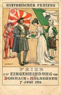 Illustrateur Louis Garnier - Historischer Festzug - Feier Zur Eingemeindung Von Dornach In Mulhausen 7 Juni 1914 - Ohne Zuordnung