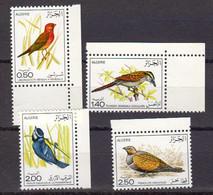 Algerie 1976 Yvert 635 / 638 ** Neufs Sans Charniere. Oiseaux - Algérie (1962-...)