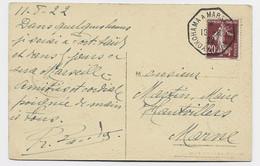 N° 139 SEUL CARTE DJIBOUTI C. OCTOG YOKOHAMA A MARSEILLE N° 8 16.8.22 - 1906-38 Säerin, Untergrund Glatt