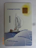 CARTE A PUCE CHIP CARD ENTREPRISE  AGI DES SERVICES A LA CARTE 78 GUYANCOURT VOILIER - Cartes De Fidélité Et Cadeau