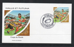 RUGBY - WALLIS & FUTUNA -  2007 - RUGBY WORLD CUP  ON  ILLUSTRATED FIRST DAY COVER - Rugby