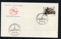 RUGBY -  ITALY - 2001  RUGBY  ON  ILLUSTRATED FIRST DAY COVER - Rugby