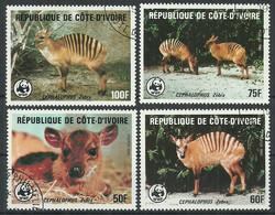 Ivory Coast Cote De Voir 1985 Used Stamps Set Animals - Ivory Coast (1960-...)