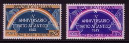 ITALIEN MI-NR. 896-897 POSTFRISCH(MINT) 4 JAHRE NATO REGENBOGEN 1953 - Europäischer Gedanke