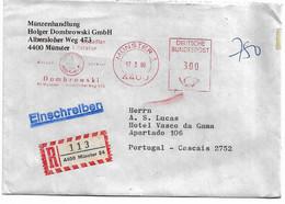 Germany , 1980 , DOMBROWSKI Advertising Postmark , Munster Registration Label - Cartas