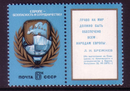SOWJETUNION MI-NR. 4390 MIT ZIERFELD POSTFRISCH(MINT) KSZE 1975 LANDKARTE - Ideas Europeas