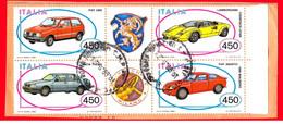 Italia - 1985 - Usato/used - Auto - Mi N. 1912/15 - 1981-90: Usati