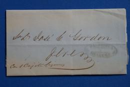H3 ESPAGNE BELLE LETTRE 1859 CADIZ +SIGNEE EN BAS A DROITE  AFFRANCH. INTERESSANT - ...-1850 Préphilatélie