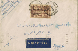 40901. Carta Aerea PARIS (Rue Vaugirard) 1937 A Egypt, Cairo - Covers & Documents
