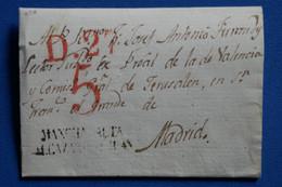 H3 ESPAGNE BELLE LETTRE  1830   POUR MADRID+  AFFRANCH. INTERESSANT - ...-1850 Préphilatélie