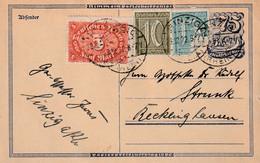 Postkarte Ganzsache Deutsches Reich Sinzig Vom 23.12.1922 - Gebruikt