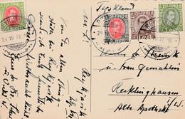 Postkarte Island Vom 29.7.1937 Nach Recklinghausen - Gebruikt