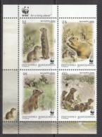 2011 Macedonia WWF Prairie Dog Squirrel Complete Block Of 4 MNH - Nuovi