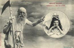 Bergeret BONNE ANNEE  Coucou !... Ah ! La Voilà  1905 RV - Andere