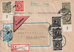 Toller R - Brief Alliierte Besetzung Ziffernausgabe Aus Wermelskirchen Vom 11.12.1946 - Amerikaanse, Britse-en Russische Zone