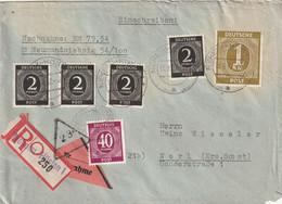 Toller R - Brief Alliierte Besetzung Ziffernausgabe Aus Neheim - Hüsten  Vom 15.8.1947 - Amerikaanse, Britse-en Russische Zone