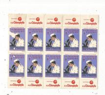JC, Vignette , Bloc De 10 , LA SCIENCE VAINCRA, Comité National De Défense Contre La Tuberculose, 1953 ,frais Fr 1.75e - Blocs & Carnets