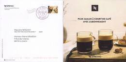FRANCE PAP 2021 Entier Postal DESTINEO M07  Timbre En Ligne NESPRESSO Café Ganzheit Stationary 03 - Private Stationery